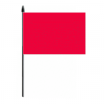 Plain Red Hand Flag - Medium